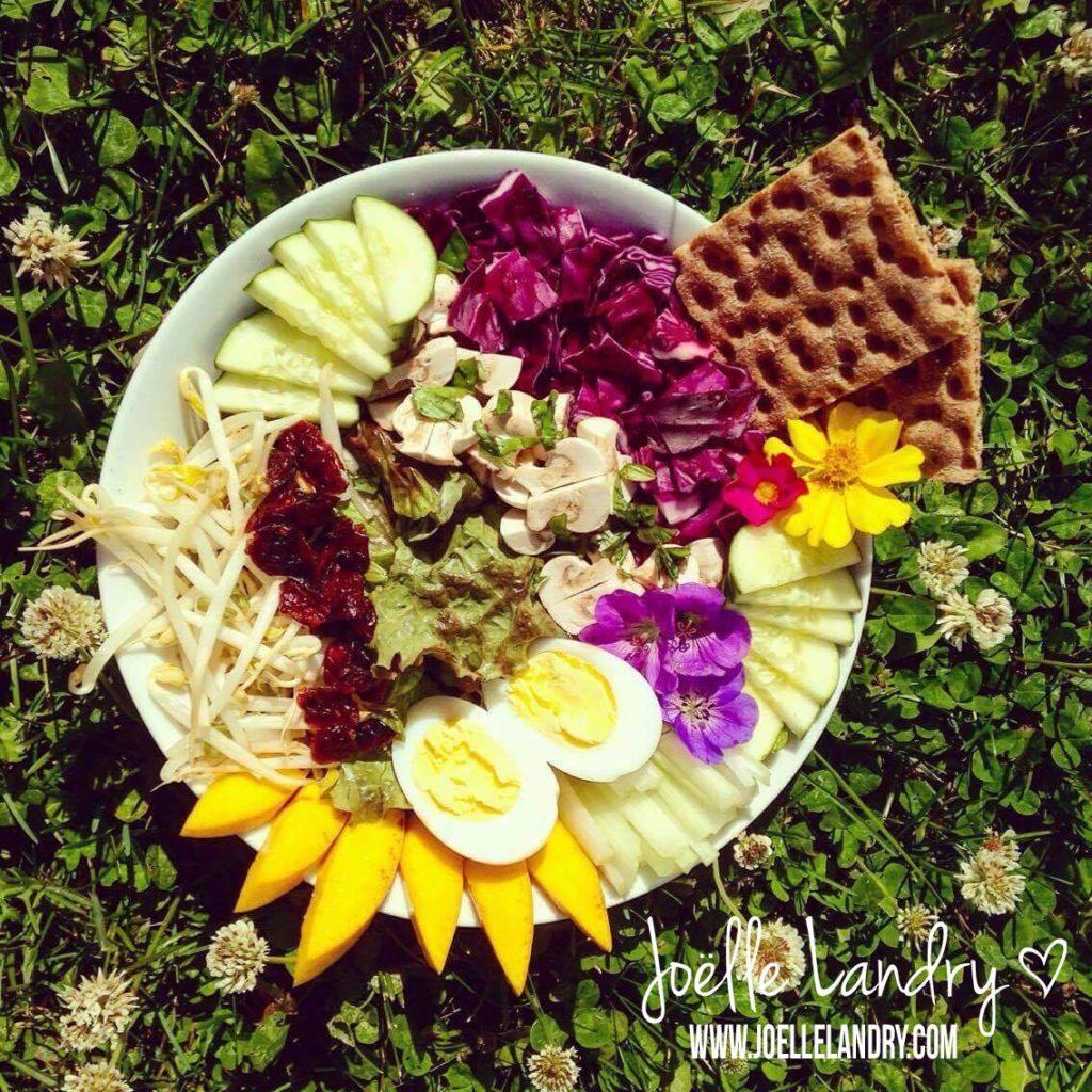 Salade colorée et vitaminée