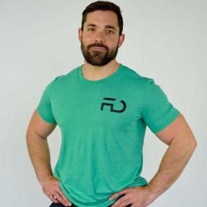 t-shirt FD Fitness vert