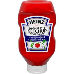 Ketchup sans sucre ajouté de la marque HEINZ